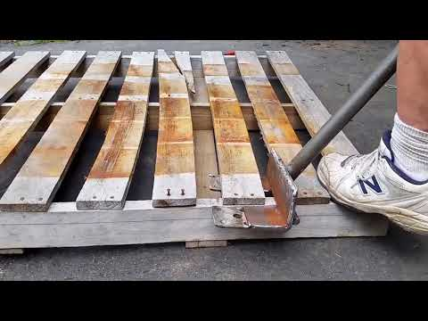 How To Make Pallet Disassembly Tool to Easily Deconstruct and Dismantle Hardwood Slats