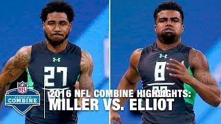 Ezekiel Elliott vs. Braxton Miller | 2016 NFL Combine Face Off