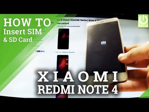 How to Insert SIM and SD Card in XIAOMI Redmi Note 4