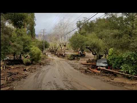 Montecito Mudslide Damage East Valley Road Santa Barbara Flood Before and After