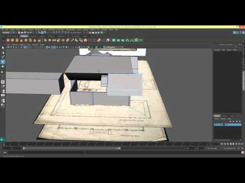 Modelling a House in Maya 2016 Series 1 - Blocking out the roof [P7]