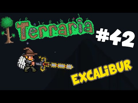 Let's Play Terraria Android Edition - Crafting the Excalibur! - Episode 42