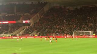 8/1/17 Excellent Grant Leadbitter free kick + Fan Reaction - Middlesbrough Vs Sheffield Wednesday