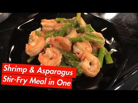 How to Make: Shrimp & Asparagus Stir-Fry Meal In One