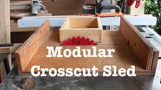 Modular Crosscut Sled with box joint jig // How-To