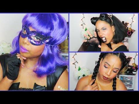 GRWM | 3 Easy Fun Last Minute Halloween Costumes (Pocahontas, Cat, Hit Girl) | Jewel Jasmine