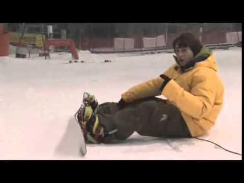 Como levantarse del suelo con tu tabla de snowboard.