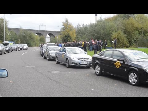 Wolverhampton taxi drivers stage go slow protest
