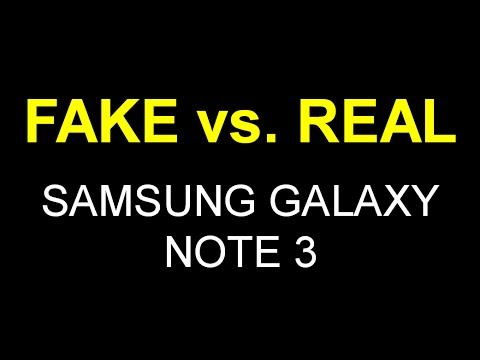 FAKE vs. REAL Samsung Galaxy Note 3 - Comparison