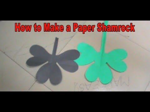 How to Make a Paper Shamrock/Clover with paper | St. Patricks Day DIY Decoration - Easy Make