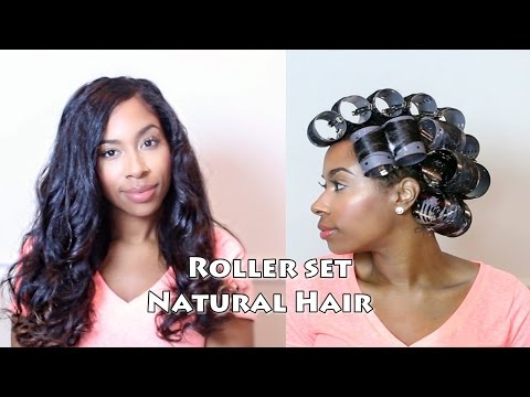 Roller Set on Natural Hair | Tutorial
