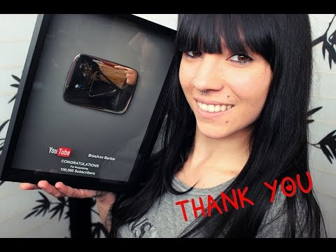 100,000 Subscriber YouTube Plaque Unboxing!❤