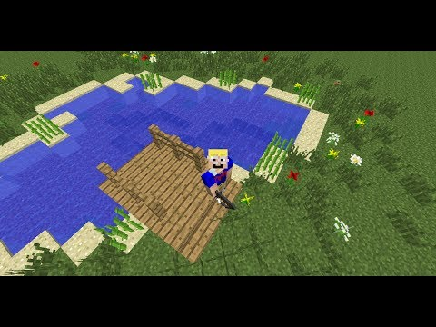 Minecraft Let's Build #2 Frantic Fish Pond