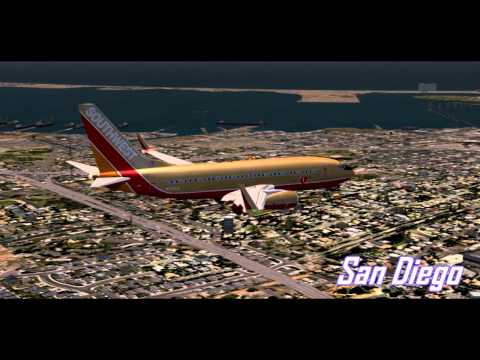 HD FSX-Southwest Airlines Phoenix to San Diego