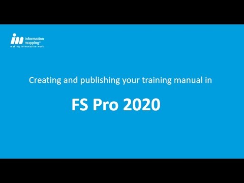Create and Publish your Training Manual in FS Pro 2020
