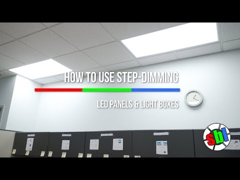 Step-Dimming LED Panels and Light Boxes