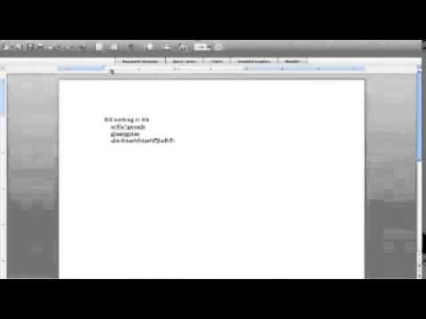 How to set indents in Word 2008 for Mac