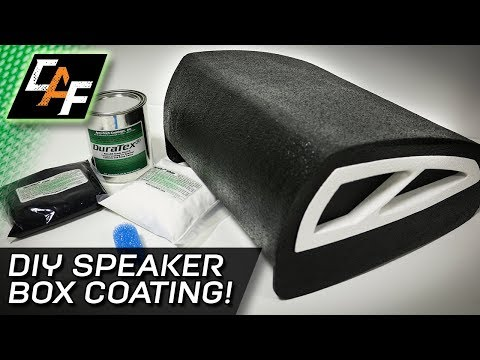 Subwoofer Box Coating! Protect it with DuraTex - HOW TO
