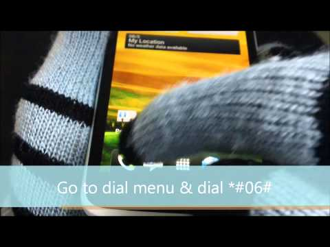 Check your phone IMEI tutorial - AT&T HTC One X