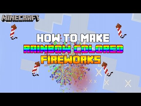 Minecraft (Xbox360/PS3) - HOW TO MAKE A RAINBOW COLORED FIREWORK!! - TUTORIAL