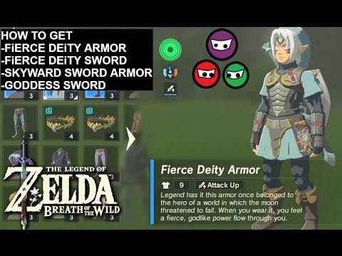 Zelda Breath of the Wild | How to get the Fierce Deity Armor | Skyward Sword Armor | Goddess Sword