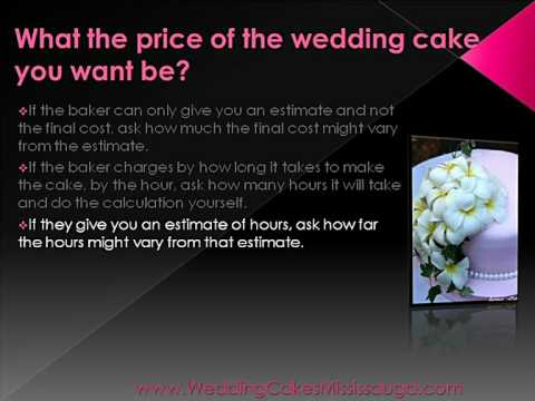 Mississauga Wedding Cakes - What Will It Cost?