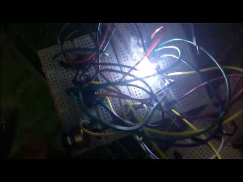 Simple flashing LED chaser / sequencer using 555 timer + CD4017 - 9 volt