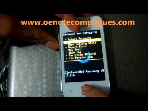 Instalar ClockWorkMod CWM Recovery Galaxy Young Y S5360 [HD]