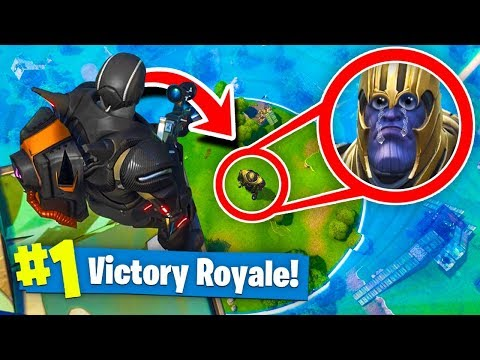 TROLLING THANOS In Fortnite Battle Royale! (Infinity Gauntlet)