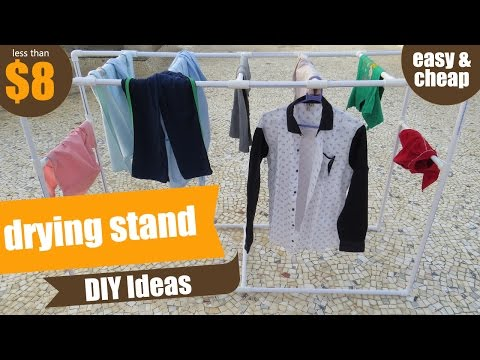 PVC Clothes Drying Rack OR Stand | PVC Pipe Project | PVC Pipes DIY Ideas | How to make Drying Rack