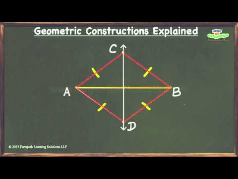 How to construct the perpendicular bisector of a line segment?
