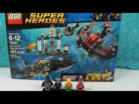 Lego Black Manta Deep Sea Strike 76027 Mini Figure Toy Review Batman