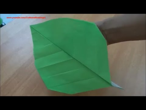 How to make a Paper Leaf easily...[ Folding Instructions/Tutorial ]