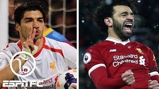 Luis Suarez 2013-14 vs. Mohamed Salah 2017-18 at Liverpool   ESPN FC