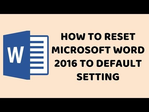 How To Reset Microsoft Word 2016 To Default Setting   Easy Tutorials In Hindi