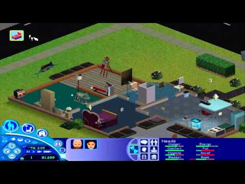 The Sims 1- Part 41- Changing the Camera Angle