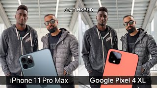 Pixel 4 XL vs iPhone 11 Pro Max Camera Test Comparison feat. MKBHD