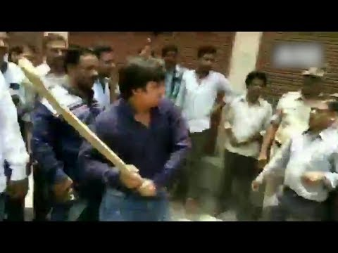 Xxx Mp4 BJP MLA Beats Civic Officer With Cricket Bat Video Goes Viral 3gp Sex