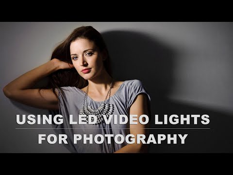 using LED video lights