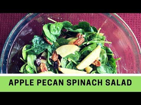 APPLE PECAN SPINACH SALAD | Easy & Healthy Salad Recipe