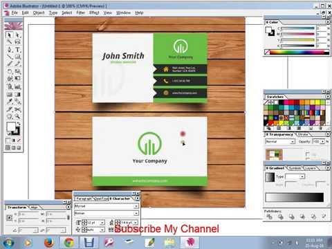 Adobe Illustrator | Visiting Card Design | CCA