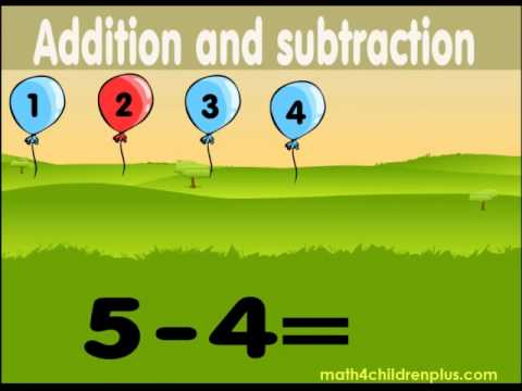 Addition and subtraction, maths videos 1st grade