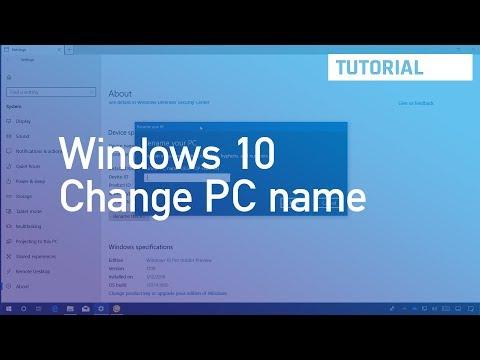 Windows 10 tutorial: Change PC name