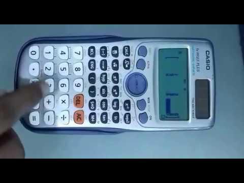 How to calculate determinant value in Casio 991-ES +...?