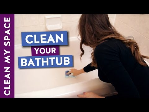 How to Clean a Bathtub! (Easy Bathtub Cleaning Routine)