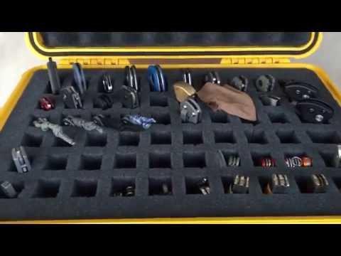 Folding Knife Storage:  Pelican 1500 Case