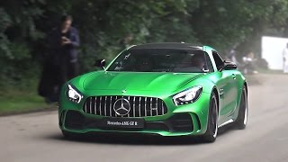 Mercedes AMG GT R drifts, accelerations and revs!