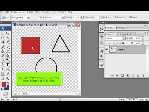How to use the Paint Bucket tool in PhotoShop - Adobe Photoshop Tutorials