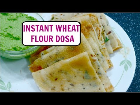 Instant Wheat and Rice Flour Dosa Recipe | Quick & Easy Breakfast | Atte ka Cheela - CurryfortheSoul