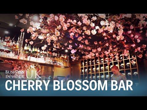 A London bar is celebrating the cherry blossom season